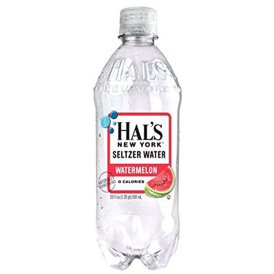 Hal's New York Seltzer Water 20 Oz (12 Pack) (Watermelon)