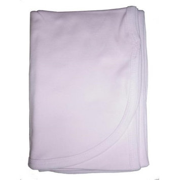 Bambini 3200P Pink Interlock Receiving Blanket