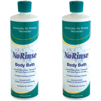 Johnson Smith (Set/2) No Rinse! Concentrated Body Bath 16 Oz Bottle Wash Without Rinsing