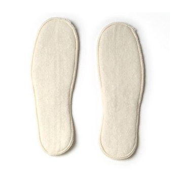 Soft Organic Merino Wool Insoles, Natural White, size 34