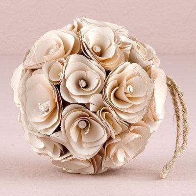 Weddingstar 9172-14 Floral Pomander Ball made with Wood Curls - Purple
