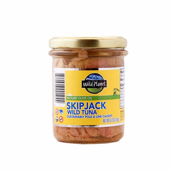 Wild Planet Wild Skipjack Tuna in Pure Olive Oil, Keto and Paleo, 3rd Party Mercury Tested, 6.7 Ounce [Skipjack]