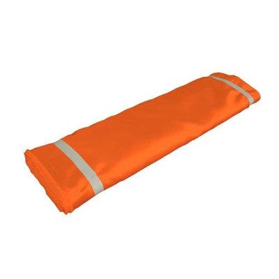 LA Linen BridalBolt-10Yrd-OrangeB48 10 Yards Bridal Satin Flat Fold Orange