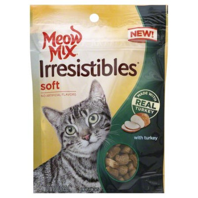 Meow Mix Irresistibles Soft With Real Turkey Dry Cat Treats, 3 Oz