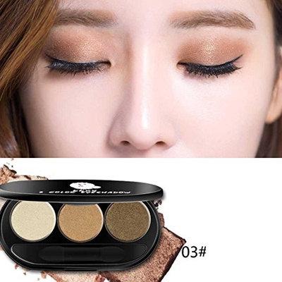 Inverlee Three - Color Peach Makeup Smoky Warm Color Beads Matte Eye Shadow