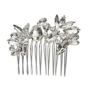 L. Erickson Stargazer Crystal Comb - Crystal/Silver