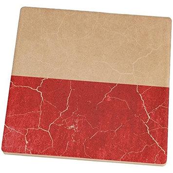 Old Glory Distressed Grunge Polish Flag Square Sandstone Coaster