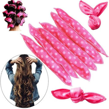 20Pcs Magic Pillow Cloth Hair Roller for Long Medium Hair, Flexible Foam Sponge No Heat Nighttime Hair Curlers DIY No Harm Night Hair Rollers Styling Tool For Women-Pink