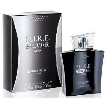 PURE P.U.R.E. SILVER by Giorgio Valenti 3.3 / 3.4 oz edt Cologne * New In Box