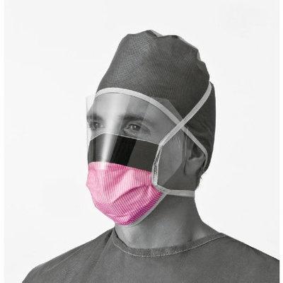 Sammons Preston Fluid-Resistant Surgical Face Fog Free Tie Masks with Eyeshield
