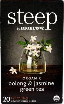 Bigelow Tea Steep Organic Green Tea Oolong & Jasmine - 20 Tea Bags pack of 12