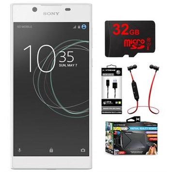 Sony Xperia L1 16GB 5.5-inch Smartphone Unlocked White w/32GB Memory Card Bundle
