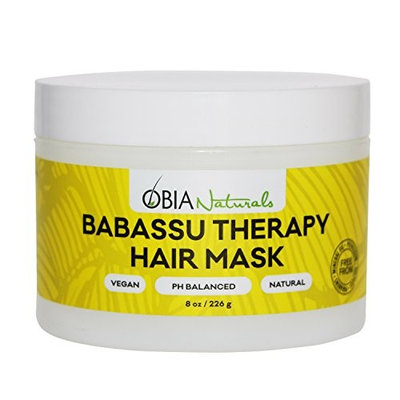 OBIA Naturals Babassu Therapy Hair Mask - (8 oz/ 226 g) - Deep Conditioner - Hydrating, Repairs Dry, Damaged or Color Treated Hair After Shampoo - Sulfate Free, Vegan