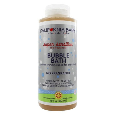 California Baby - Aromatherapy Bubble Bath With Bubble Wand Super Sensitive No Fragrance - 13 oz.(pack of 2)
