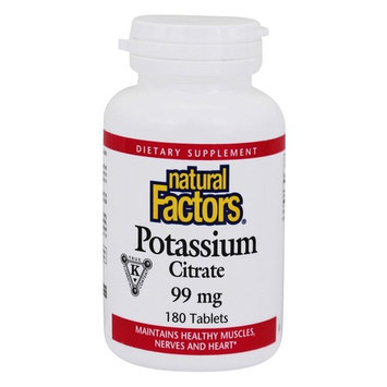 Potassium Citrate for Muscles, Nerves & Heart 99 mg. - 180 Tablets