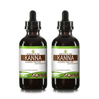 Secrets Of The Tribe Kanna Tincture Alcohol Extract, Organic Kanna (Channa, Sceletium Tortuosum) Dried Plant 2x4 oz