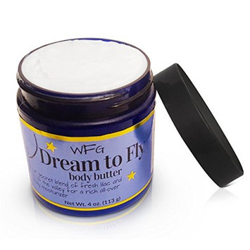 Dream to Fly body butter, lilac and lily of the valley, 25% shea butter, all over body moisturizer