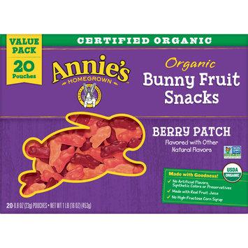 Annie's Organic, Gluten Free, Bunny Fruit Snacks Berry Patch, 16 oz