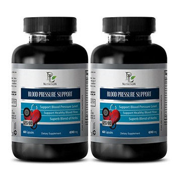 Blood pressure formula supplements - BLOOD PRESSURE SUPPORT - Energy booster multivitamins - 2 Bottles 120 Capsules