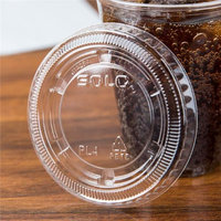 Dart PL4N CPC 4 oz Solo Ultra Lid for souffle Cup with No Slot - Clear Case of 2500