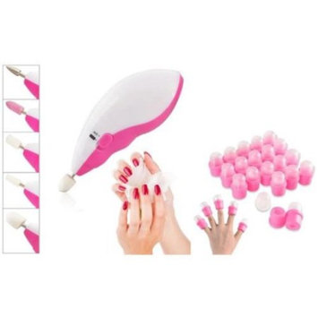 Zodaca 20 x Cap DIY Wearable Salon Nail Gel Remover Soakers+Electric Nail Art Salon Machine Pedicure Drill File