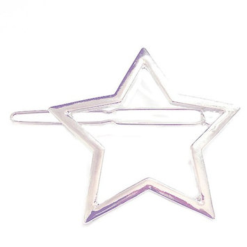 No-Slip Hair Clip,WuyiMC Minimalist Dainty Hollow Geometric Metal Hairpin Hair Clip