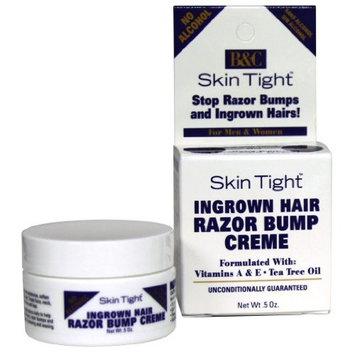 B&C Skin Tight Ingrown Hair Razor Bump Creme for men & women W/vitamins A&E Tea Tree Oil 0.5 oz