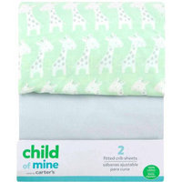 Child of Mine by Carter's Giraffe Family 2-Pack Fitted Crib Sheet
