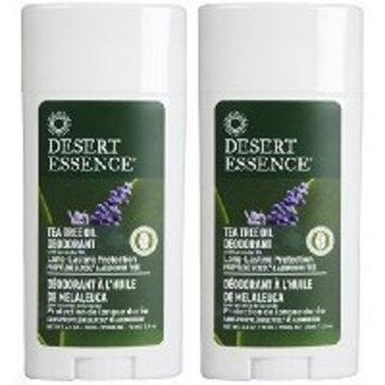 Desert Essence Tea Tree Deodorant , Lavender - 2.5 oz - 2 pk SOLD BY Prefectmart THANK YOU