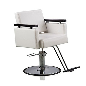 Funnylife White Sturdy Styling Hair Barber Chair
