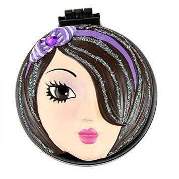 Jenna Compact Mirror with Popup Brush