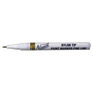 Nissen Paint Marker, Gold, 1/8 in. Tip Size Model: 00378