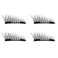 Staron Magnetic Fake Eyelashes, Magnet False Eye Lashes 4pcs (1 Pair) Ultra-thin 3D Reusable Natural Handmade Fake Lashes