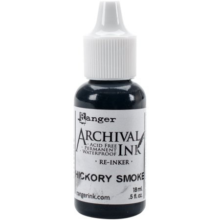 Ranger Designer Series Archival Re-Inkers .5Oz-Hickory Smoke
