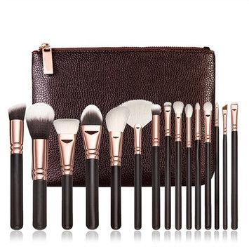 Makeup Brushes Set, KIMYO Foundation Blush Blending Eyeshadow Eyeliner Lip Cosmetic Tool Kit with PU Leather Package