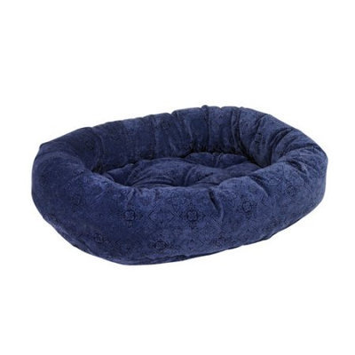 Bowsers Pet Products 10234 35 in. x 27 in. x 8 in. Donut Bed Navy Filigree