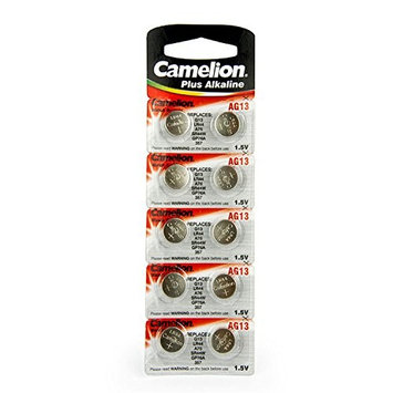 Camelion AG13/LR44/A76/357/SR44W/GP76A Alkaline Button Cell battery (Pack of 10)