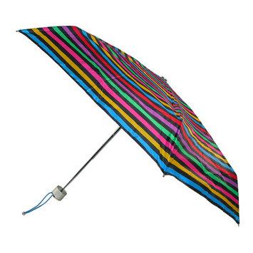 Totes Manual Mini Stripe Print Travel Compact Umbrella