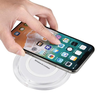 HP95 Portable Mini Qi Wireless Charger Quick-acting Charging Pad Mat For Iphone 8/8 Plus/X