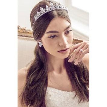 Rose Gold-Tone Crystal & Imitation Pearl Tiara