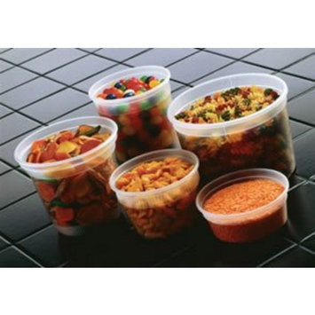 Pactiv YSD2516 Squat Deli Combo Container, 16 oz., Set of 240