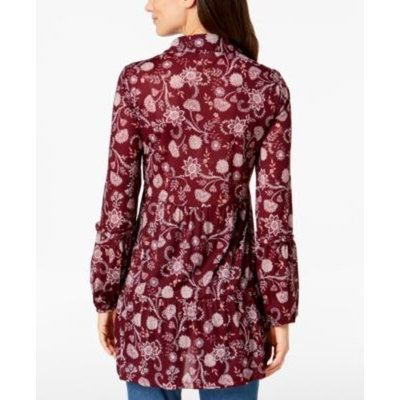 Petite Printed Mesh Shirt, Created for Macy's