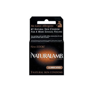 Trojan Naturalamb Natural Skin Lubricated Condoms - 3 Ea/Pack, 6 Pack