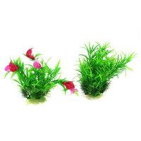 2 Pcs 17cm High Green Emulation Aquatic Float Plant Dercoration for Aquarium