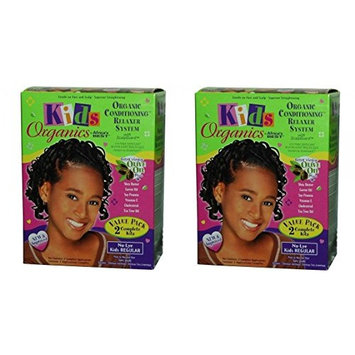 [ PACK OF 2] Africa's Best Kids Originals, Natural Conditioning Relaxer REGULAR 2 COMPLETE KIT EA: Beauty
