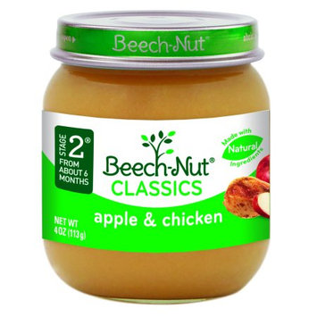 Beech-nut Nutrition Beech-Nut Classics Stage 2 Apple & Chicken Baby Food, 4 oz, (Pack of 10)