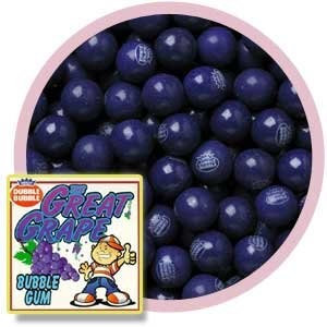 Dubble Bubble Grape 1' Gumballs, 1LB