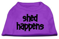 Mirage Pet Products 5149 XLPR Shed Happens Screen Print Shirt Purple XL 16