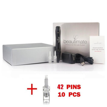 beautimate Derma Pen Professional Rechargeable Microneedle Skincare System + 10 42 Pin Cartridges