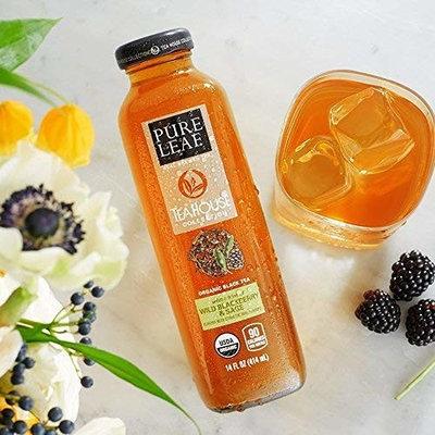 Pure Leaf Tea House Collection, Organic Iced Tea, Wild Blackberry & Sage, 14 Ounce (12 Bottles)